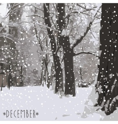 Winter is coming Winter background vector image vector image
