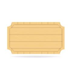 Wooden empty signboard badge wood texture vector