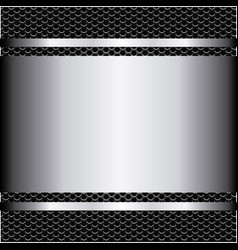 metallic grill background with plate and screws vector image