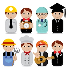 People occupations eps10 vector