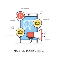 Mobile marketing e-commerce internet advertising vector