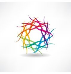 Abstract multicolored circles icon vector