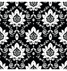 Daisy and vine pattern vector