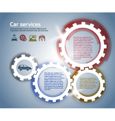 Car service effect it brush gear glow background vector