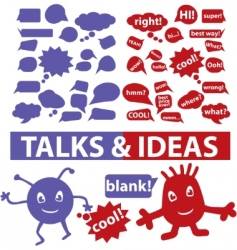 speech  thought bubbles vector image