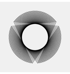 Black abstract fractal shape vector