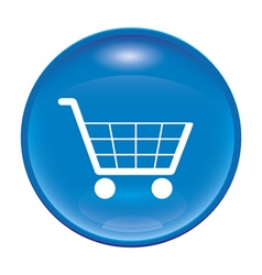 blue shopping icon vector image