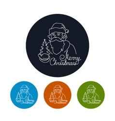 Icon of a Santa Claus vector image