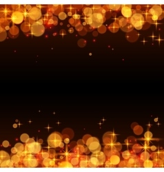 Yellow shining bokeh frame abstract background vector