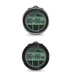 Digital stopwatch vector