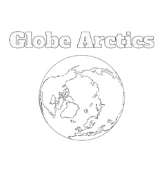 Globe arctic view vector