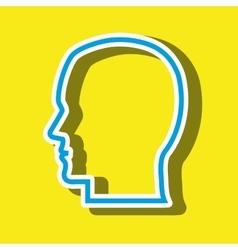 head silhouette isolated icon design vector image