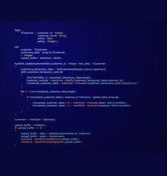Abstract background with program code vector
