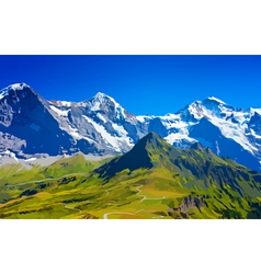 Alps high mountains vector
