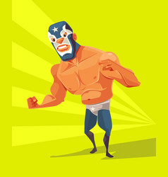 Angry wrestler man character vector