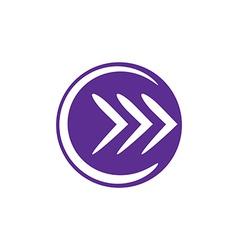 Arrow icon abstract icon symbol vector image vector image
