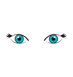 beautiful eyes view icon vector image