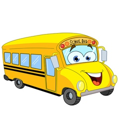 cartoon school bus vector image vector image