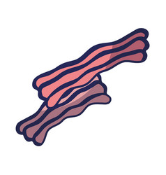 Delicious bacon fast food meal vector