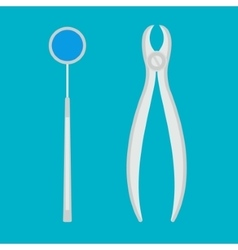 Dental equipment on a blue background vector image