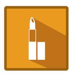 emblem lipstick makeup icon vector image