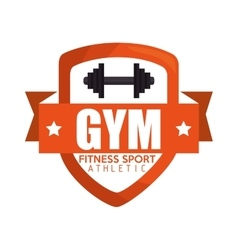Gym fitness sport athletic barbell banner vector