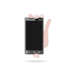Hand with mobile phone vector image vector image