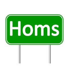 Homs road sign vector