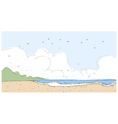 Idyllic beach landscape background vector image