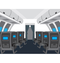 Interior of salon of the plane vector image