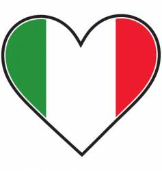 Italy heart flag vector image vector image