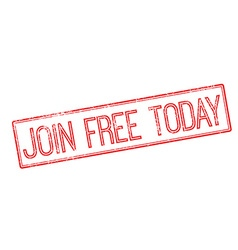 Join free today red rubber stamp on white vector