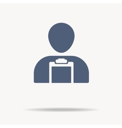 man with clipboard icon Single flat icon on vector image vector image