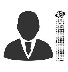 Manager icon with professional bonus vector