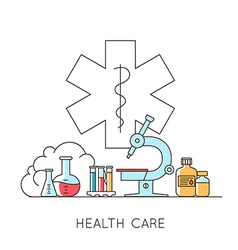 Medical and lab equipments vector image vector image