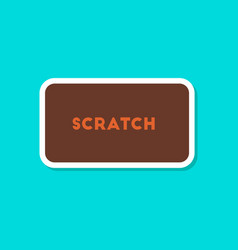 Paper sticker on stylish background scratch card vector