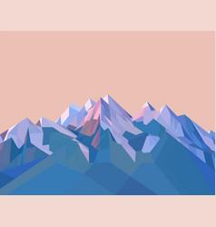 Polygonal mountains vector