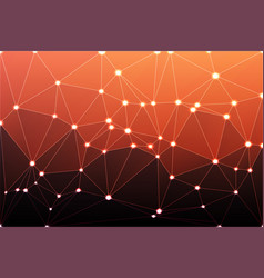 red orange purple geometric background with mesh vector image