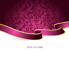 Ribbon vintage pic vector