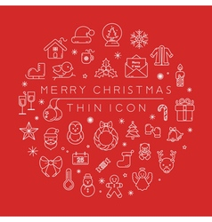 Set of christmas icons eps10 format vector