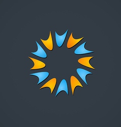 Spark circle shape abstract logo vector