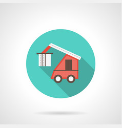 Train loader blue round icon vector