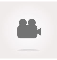 video camera icon web app button vector image vector image