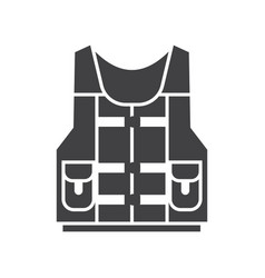 Water life vest jacket icon vector