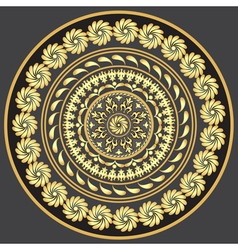 Gold round vintage pattern vector image
