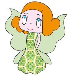 Little fairy beautiful fairy a fun fairy vector