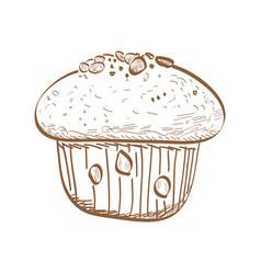 Retro bakery product vector