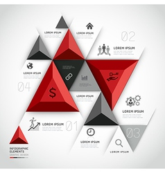 3d infographics business triangle vector image