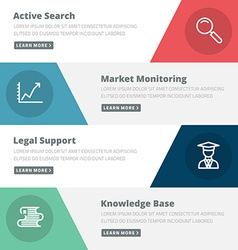 Flat design concept for search marketing support vector