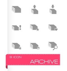 Archive icon set vector